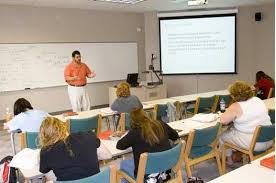 in-class setting with students listening to instructor